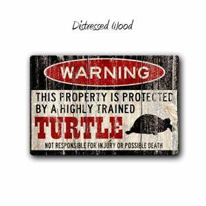 Turtle Warning Sign - 12 x 8 Aluminum Sign