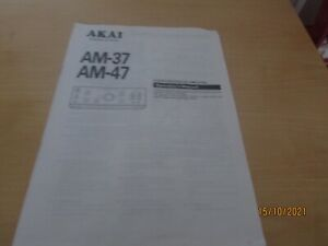 AKAI AM-47   AND AM- 37 AMPLIFIER  OPERATORS MANUAL , NOTE (NOT AMPLIFIER , JUST