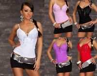 Women's Fitted Top Stretchy Sexy Ladies Summer Vest Top Size 8, 10, 12