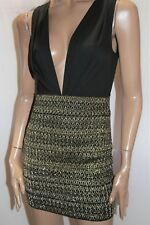 BLOSSOM Brand Black Textured Skirt Bodycon Dress Size 6 BNWT #TF49
