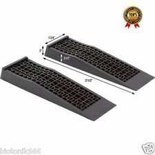 Pair Low Sport Car Ramps Lifter Garage Auto Racing Vehicle Stand Service Ramp