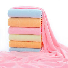 Absorbent Microfiber Beach Bath Towel Quick Drying Swimming Washcloth Kids Adult