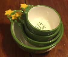 Ganz Measuring Cups New Never Used Green With Stars