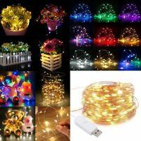 20M 200 LED String Lights Wedding Party Xmas Decor Fairy Curtain Tree Lamp US