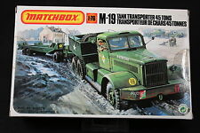 YM065 MATCHBOX 1/76 maquette voiture 40174 M-19 Tank Transporter 45 tons