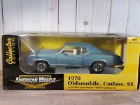 ERTL American Muscle 1970 Olds Cutlass SX 1:18 Scale Diecast Model Car Blue