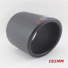 101mm Matte Real Carbon Fiber Exhaust Pipe Cover Exhaust Accessories Curled Edge