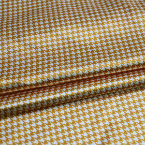 1 Yard Houndstooth Pattern Satin Fabric Geometric Charmeuse Material Soft Lining