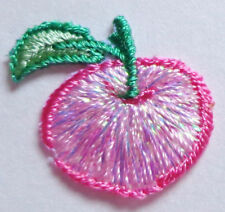 APPLE IRON ON  APPLIQUE PATCH  3/4 X 3/4 inch