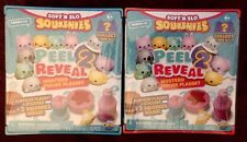 Lot of 2 NEW Soft N Slo SQUISHIES Peel 2 Reveal Mystery Figure Playsets Series 1