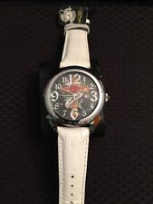 Ed Hardy Men's Revolution Flaming Cross, White Watch   ABSOULTLY GORGEOUS