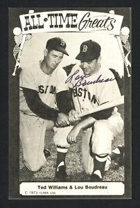 Lou Boudreau Autographed 1973-79 TCMA All-Time Greats Postcard Indians 161197