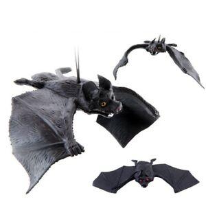 Halloween Hanging Decoration Black Rubber Bat Party Backdrop Festival DIY