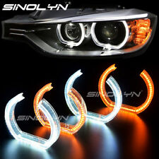 3D Acrylic LED Angel Eyes Halo Rings For BMW M3 E90 E92 E93 DTM Style Switchback