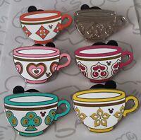 Mad Tea Party Cups 2015 Hidden Mickey DLR Teacup Disney Pin Make a Set Lot