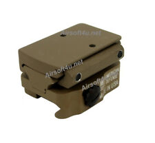 Quick Release Rail In Tan Rmr Sight Mount Adapter with 15mm Riser For Airsoft