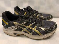 ASICS Gel Strike Running Shoes Men's Size 10.5 T1G3N Black Silver Gold