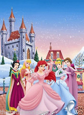 DISNEY PRINCESS CASTLE - 3D MOVING PICTURE POSTER 300mm x 400mm (NEW)