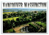 Postcard Officers Row with Downtown Vancouver, WA I-5 Bridge Columbia River M7