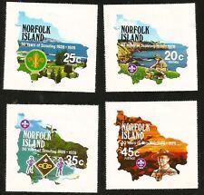 Boy Scouts Baden Powell Norfolk Island Pacific Ocean Mint Stamps Pfadfinder Unge