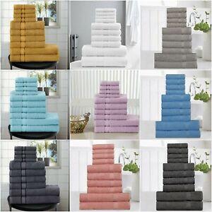 10 Piece Towel  Super Soft Highly Absorbent Pure Cotton Set FACE HAND BATH Towel