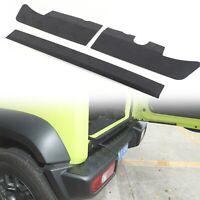 3×Black Alloy Rear Bumper Protector Guard Panel Trim For Suzuki Jimny 19-20 AZ