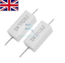 Wirewound Cement Resistor Ceramic 5W horizontal 0.15ohm -22Kohm - Free postage