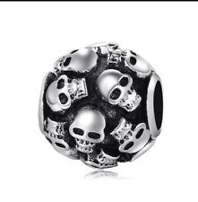 Skull Charm Bead Black Silver Plated European Hair Toy Home Phone Case Nail