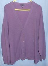 Lands' End Purple Long Sleeve Cardigan Sweater Barely Used 5X 32W-34W