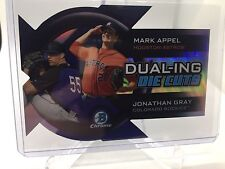 2014 Bowman Chrome Dualing Die Cut #DDC-AG Mark Appel/Jonathan Gray