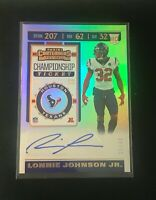 2019 Panini Contenders Lonnie Johnson Jr. Rookie Championship Ticket Auto 21/49