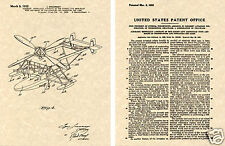 HELICOPTER US PATENT Art Print READY TO FRAME!!!! IGOR SIKORSKY Helicoptor Rotor