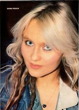 Lot Of 2 Vintage 1989 Magazine Photo Clippings Of Doro Pesch The Warlock Woman