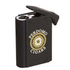 Colibri PERDOMO Uber Triple Jet Table Lighter Rubberized Black! New! SAVE 60%!