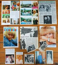 MIREILLE DARC spain clippings 1960s/70s magazine articles photos Alain Delon