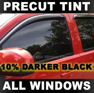 PreCut Window Tint for Toyota Corolla 4DR 2005-2008 - Darker Black 10% VLT Film