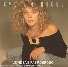 """KYLIE MINOGUE - Je Ne Sais Pas Pourquoi (UK 2 Tk 1988 7"""" Single PS)"""