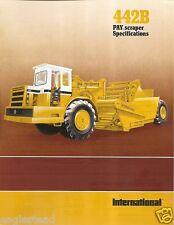 Equipment Brochure - International - Ih 442B - Pay Scraper - 1978 (Eb857)