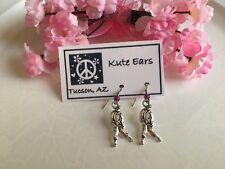 "Silvertone 1"" ZOMBIE Halloween Walking Dead Spooky Nightfall Dangle Earrings"