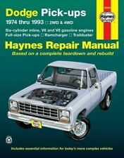 Haynes Dodge Pick-Ups 1974-1993 2WD & 4WD Repair Manual