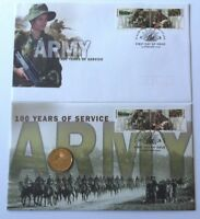 2001 100 YEARS OF SERVICE ARMY PNC AND FDC SET