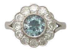 Diamond Cluster Natural White Gold Fine Rings
