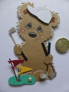 4 Large 3D GOLF Sporting handmade card toppers Mens Dad Son Grandad Birthday