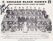 Signed Chicago Black Hawks 1960-1961 Stanley Cup Winners Photo- Autographed