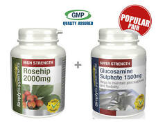 Rosehip 2000mg 240 Capsules+Glucosamine Sulphate 1500mg 360 Tablets|Joint Health