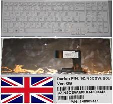 Clavier Qwerty UK SONY VAIO VPC-EL 9Z.N5CSW.B0U 148969411 Blanc Blanc-frame