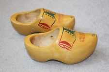 Vintage Handmade WETT GED Holland Woden Clogs Shoes Size 23/15