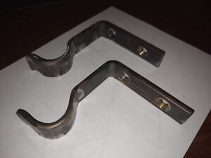 "Wrought Iron Curtain Rod Bracket (Fits 1 1/16"" Diameter Rod)"