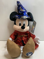 Disney Fantasia 80th Mickey Mouse Sorcerer Sequined Plush New with Tag