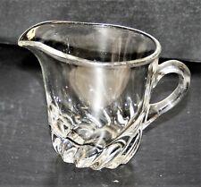 Vintage Elegant Glass Crystal Creamer Heavy Spiraled Base Excellent !